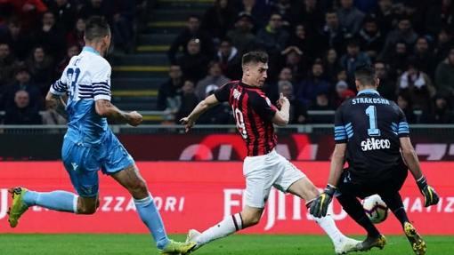Момент у ворота «Лацио»
