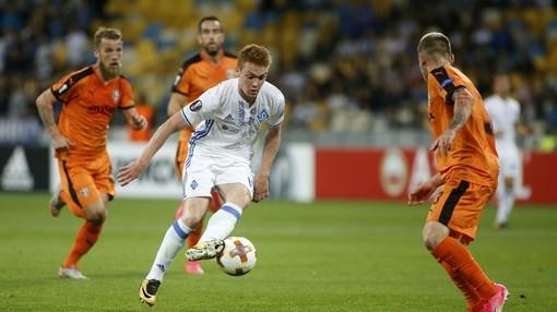 Виктор Цыганков («Динамо» Киев) в атаке
