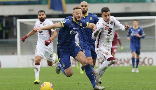 Игровой эпизод матча первого круга «Верона» — «Торино»
