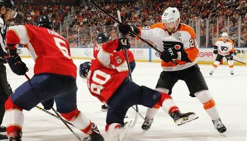 Игровой эпизод матча «Филадельфия» — «Монреаль»