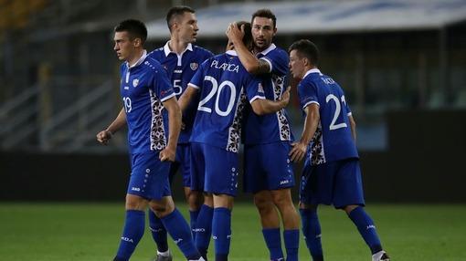 Игроки Косово только что забили Молдове (3 сентября 2020 года)