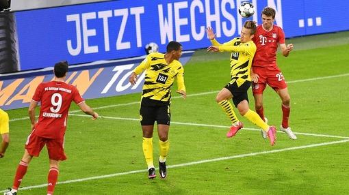 Борьба на «втором этаже» в игре «Бавария» — «Боруссия» Д