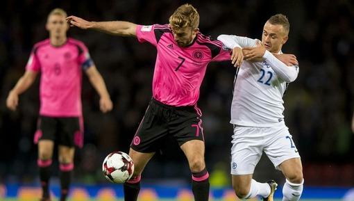 Игровой эпизод матча Шотландия — Словакия (октябрь 2017 года)