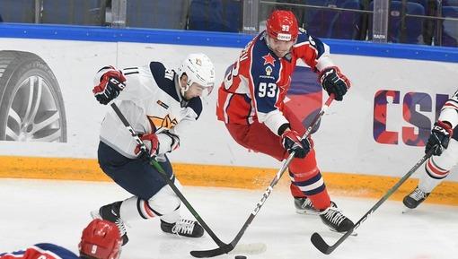 Игровой эпизод матча ЦСКА — «Металлург» (сентябрь 2020 года)