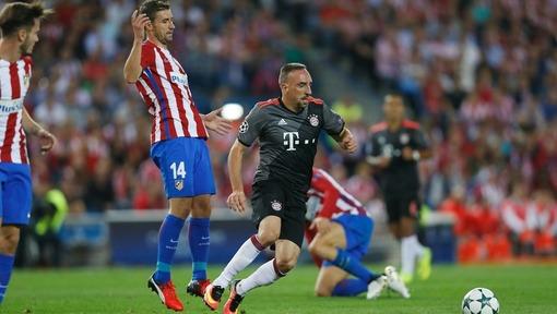 Игровой эпизод матча «Бавария» — «Атлетико» (28.09.2016)