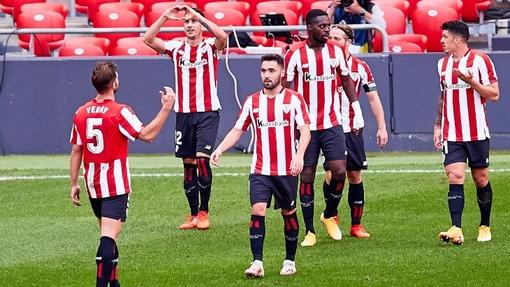 Футболисты команды «Атлетик» Бильбао