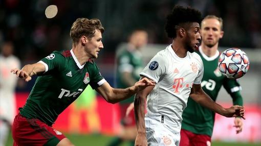 Кингсли Коман («Бавария») рвется к воротам «Локомотива»