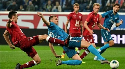 Игровой момент матча «Зенит» — «Рубин» (23.11.2020)