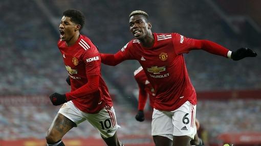 Поль Погба (6) и Маркус Рэшфорд (10) — нападающие «Манчестер Юнайтед»
